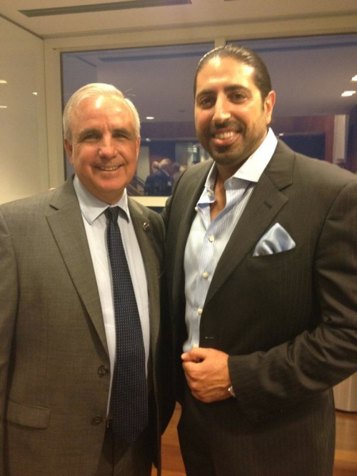 Mayor of Miami Carlos Gimenez and Thomas Kato